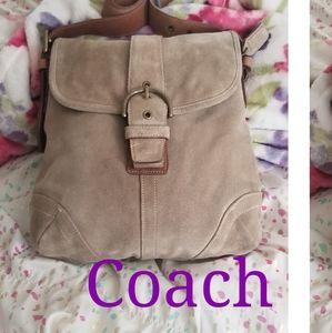 Sweet euc  Coach Suede cross body bag